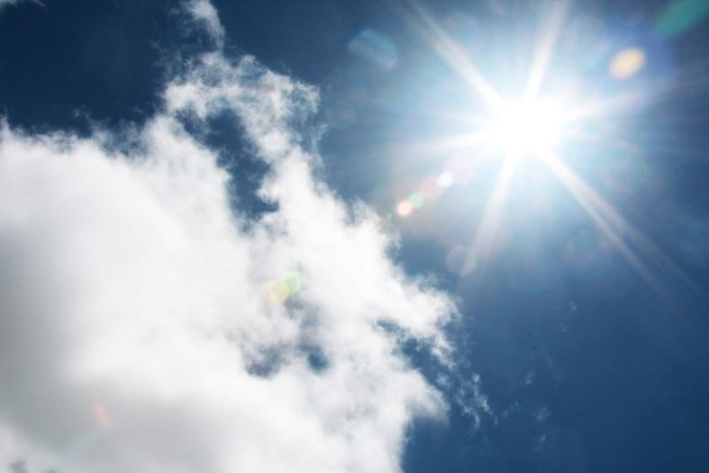 heaven sunlight blue sky