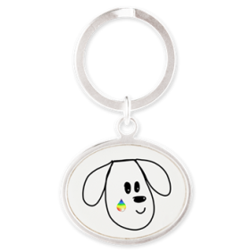 buddy the dog key chain
