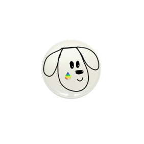 buddy the dog pet loss memorial pin