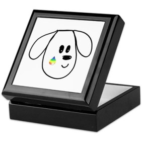buddy the dog keepsake box black
