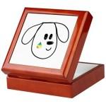buddy the dog keepsake box mahogany